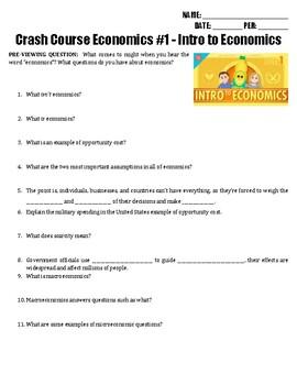 Crash Course Economics #1 - Intro to Economics