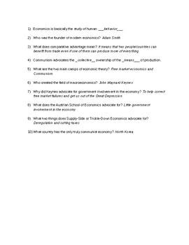 Crash Course Economics #14: Economic Schools of Thought Viewing Guide