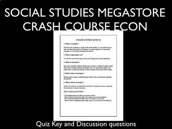 Crash Course Economics Specialization and Trade Ep. 2