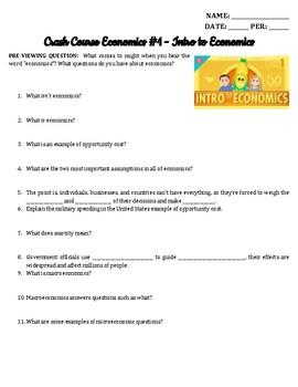 Crash Course Economics Episodes 1-20 Bundle