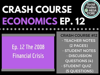 Crash Course Economics Financial Crisis Ep. 12