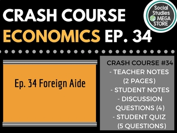 Crash Course Economics Foreign Aid and Remittance 34