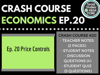 Crash Course Economics Price controls, subsidies & risks Ep. 20