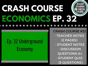 Crash Course Economics The Underground Economy Ep. 32