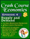 Crash Course Economics Worksheet Episode 4: Supply and Demand