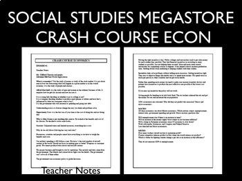Crash Course Economics Worksheets 31-35