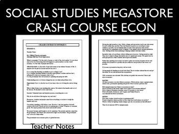 Crash Course Economics Worksheets 6-10
