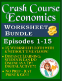 Crash Course Economics Worksheets -- FIFTEEN EPISODE BUNDLE -- Episodes 1-15