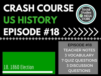 Crash Course Election of 1860 Ep. 18