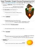 Crash Course Engineering #14 (Heat Transfer) worksheet