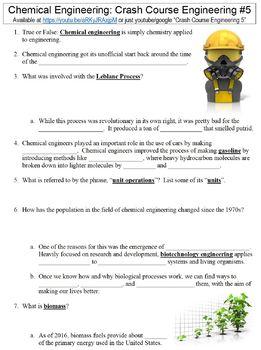 Crash Course Engineering #5 (Chemical Engineering) worksheet