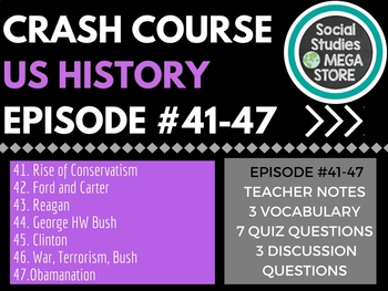 Crash Course US History 41-47