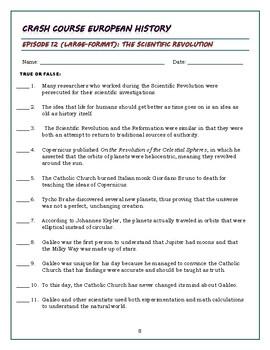 Crash Course European History Episode 12 Worksheet The ...