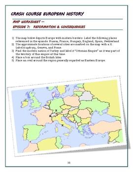 Crash Course European History Episode 7 Worksheet: Reformation & Consequences