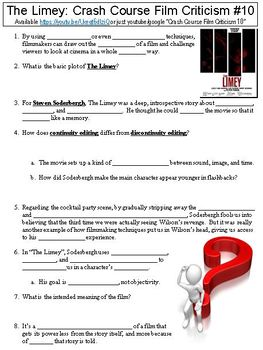 Crash Course Film Criticism 10 The Limey Worksheet By Danis Marandis