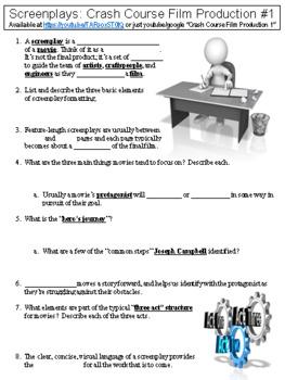 Crash Course Film Production #1 (Screenplays) worksheet