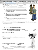 Crash Course Film Production #10 (Grip and Electric) worksheet