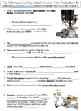 Crash Course Film Production #3 (The Filmmaker's Army) worksheet