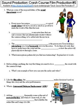 Crash Course Film Production #5 (Sound Production) worksheet