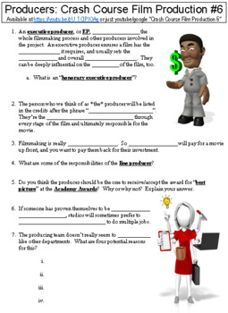 Crash Course Film Production #6 (Producers) worksheet
