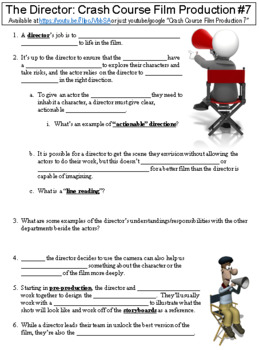 Crash Course Film Production #7 (The Director) worksheet