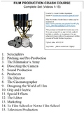 Crash Course Film Production Worksheets Complete Set (Full Collection Eps. 1-15)