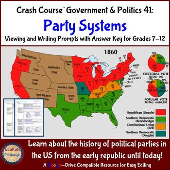 Two Party System Worksheets Teaching Resources Tpt - Us-map-by-political-party