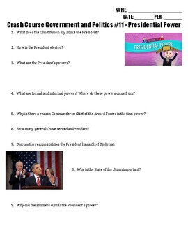 Presidential Powers Worksheets Teaching Resources Tpt