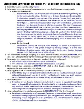 Crash Course Government and Politics #17 - Controlling Bureaucracies