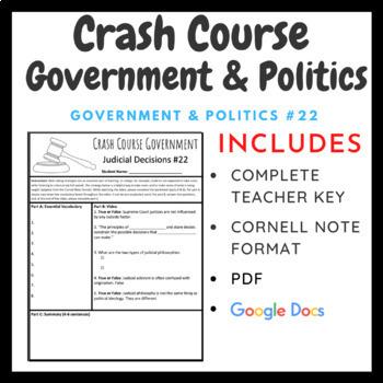 Crash Course: Government and Politics Episodes 21-34