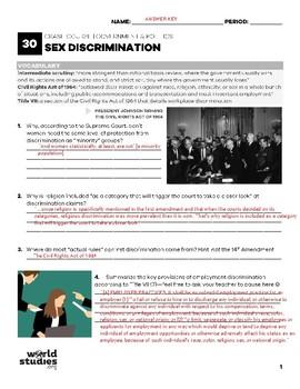 Crash Course Government and Politics Video Guide 30: Sex Discrimination