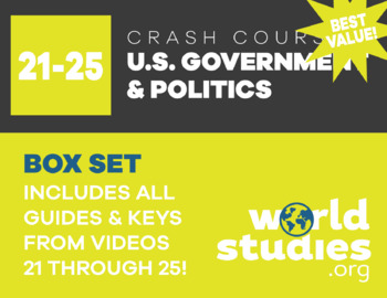 "Crash Course  Government and Politics Video Guide ""Box Set"" Episodes  21-25"