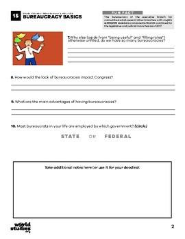 Crash Course Government and Politics Video Guide Ep. 15: Bureaucracy Basics