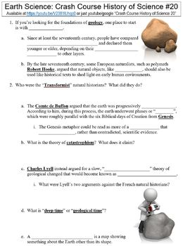 photo relating to Earth Science Printable Worksheets called Crash System Record of Science #20 (Entire world Science) worksheet