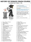 Crash Course History of Science Worksheets Complete Series Set Full Bundle