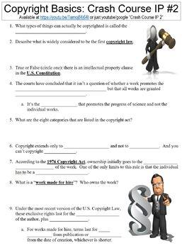 Crash Course Intellectual Property #2 (Copyright Basics) worksheet