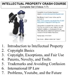 Crash Course Intellectual Property Worksheets Complete Set