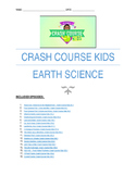Crash Course Kids: Earth Science youtube questions worksheets 23 episodes (NGSS)