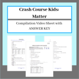 Crash Course Kids Matter Compilation Video Sheet with ANSWER KEY