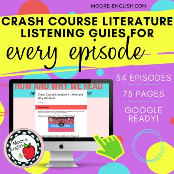 Crash Course Literature Listening Guides (ALL EPISODES)