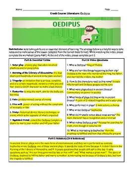 Crash Course Literature: Oedipus (Study Guide)