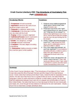 """The Adventures of Huckleberry Finn"" Crash Course Literature Video Guides"