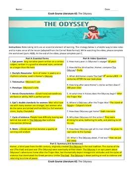 Crash Course Literature: The Odyssey (Study Guide)
