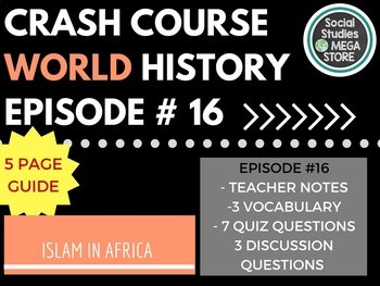 Crash Course Mansa Musa and Islam in Africa Ep. 16