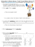 Crash Course Media Literacy #1 (Introduction to Media Literacy) worksheet