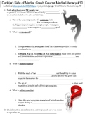 Crash Course Media Literacy #10 (The Darker Side of Media) worksheet