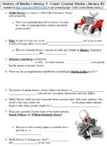Crash Course Media Literacy #2 (History of Media Literacy, Part 1) worksheet