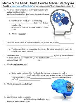 Crash Course Media Literacy #4 (Media & the Mind) worksheet