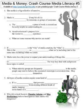 Crash Course Media Literacy #5 (Media & Money) worksheet
