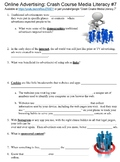 Crash Course Media Literacy #7 (Online Advertising) worksheet